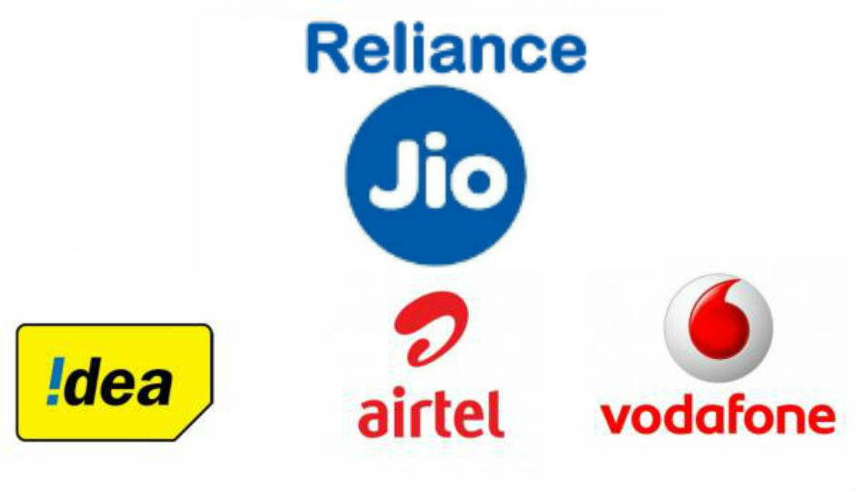 Reliance Jio, Vodafone, and Airtel , recharge