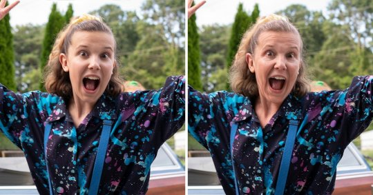 Millie Bobby Brown, FaceApp