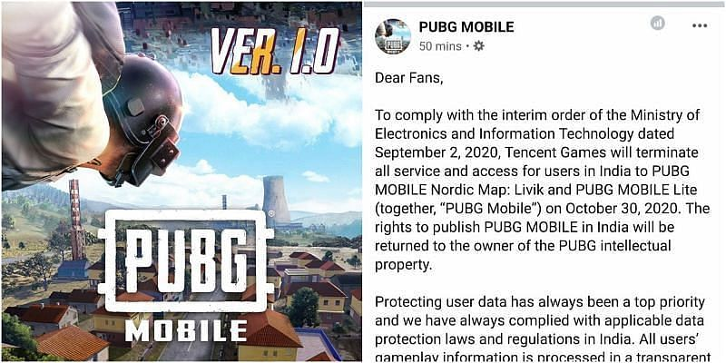 PUBG Mobile Game Shuts All The Servers in India from 30th October 2020 Tencent Announces