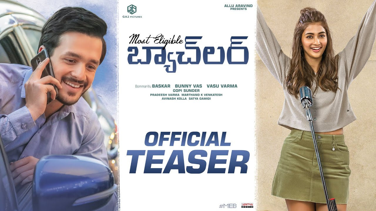 Most Eligible Bachelor Starrer Akhil Akkineni and Pooja Hegde Teaser Out  Release Date & Trailer